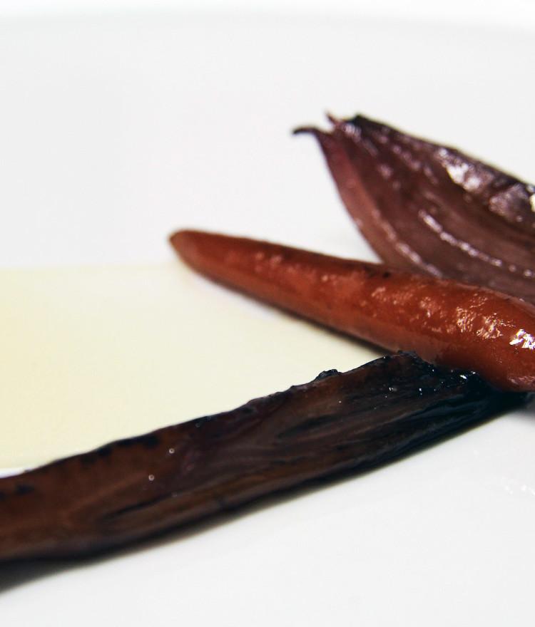 Karotte in Portwein glasiert